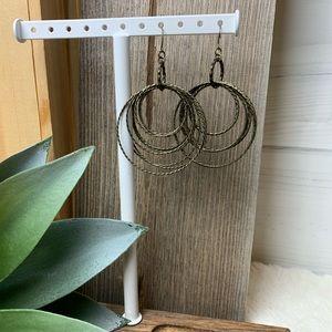 Antique Brass Hoop Earrings Hoop it up premier